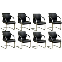 10 Cadeiras Para Escritório Veneto Diretor Fixa Preta