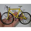 Miniatura Retro Vintage Bicicleta Corrida 1/12 Freio Operaci