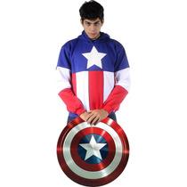 Moletom Capitão America Blusa Super Herois Casaco Capitão