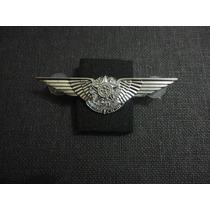 Distintivo De Metal Prateado De Aviador Da Fab