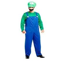 Fantasia Masculina Luigi Mario Bros - Tamanho Único