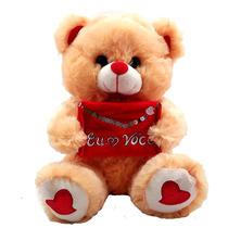 Urso Telegrama Amo Você Marrom Bicho Pelucia Namorados