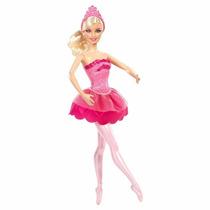 Boneca Barbie E As Sapatilhas Mágicas Bailarina Basic Rose