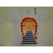 Camiseta Praia Boneca Manga Curta - Cara De Criança