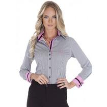 Camisa Listrada Social Feminina Principessa Ana Cláudia