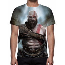 Camisa, Camiseta God Of War Kratos 2016 - Estampa Total