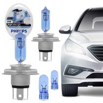 Par De Lâmpadas Philips Crystal Vision Ultra H4 Super Branc