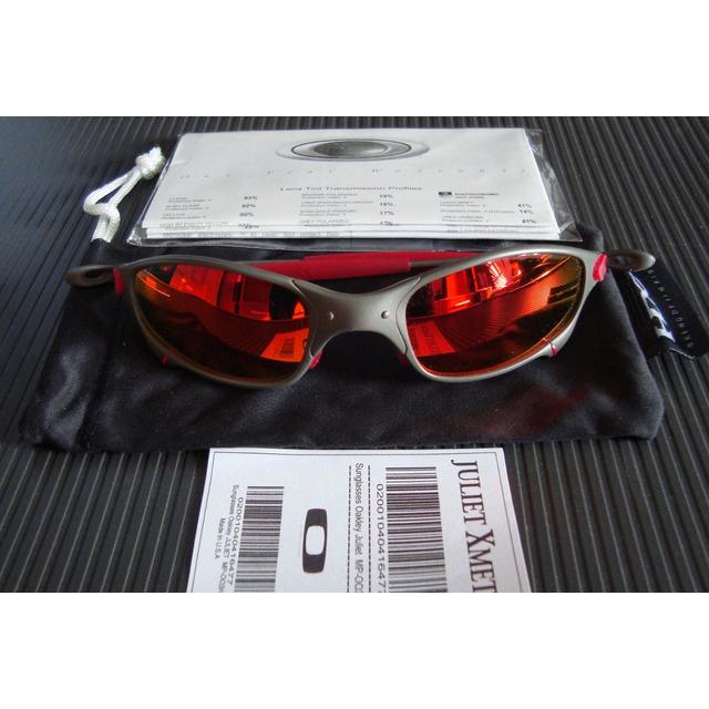 cc228a2e7 Oculos Oakley Juliet Xmetal Lente E Borrach Red+lente Black em ...