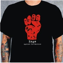 Camiseta Rage Against The Machine Preta
