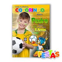 Revista De Colorir Com Giz De Cera 30 Unid. Personalizado