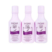 Inoar Kit Pós Progressiva (shampoo/cond/leave-in)brinde