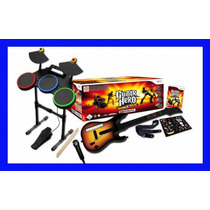 Guitar Hero Wii Wii U World Tour Bateria Guitarra Rock Band