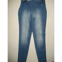 Calça Jeans Com Elastico Na Lateral Tam 42