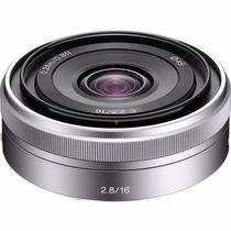 Lente Sony 16mm F/2.8 E-mount Nex Grande Angular Sel16f28
