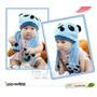 Touca E Cachecol Infantil Urso Panda - Importado