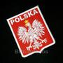 Tipl004 Seleção Polônia 8x10 Cm Símbolo Escudo Patch Bordado