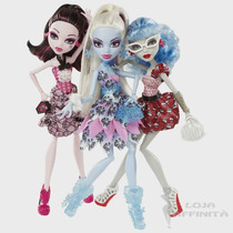 Kit Com 03 Boneca Monster High - Festa Petit Poá