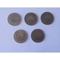 Lote Com 5 Moedas 200 Réis 1889