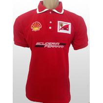 Camisa Camiseta Polo Ferrari Frete Grátis Super Promoção!