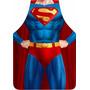 Avental Personalizado Maculino Super Man Tecido - Permeável