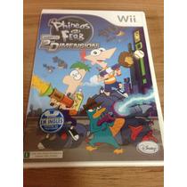 Jogo Phineas And Ferb 2nd Dimension Para Nintendo Wii Novo