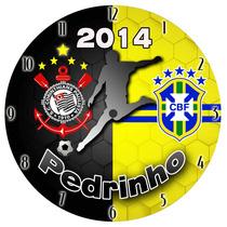 Relógio De Parede - Seu Time De Futebol E Seleção Do Coração