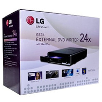 Gravador De Dvd Externo Usb Lg 24x Super Multi Pc Notebook