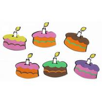 Kit Mini Painel Bolos De Aniversários Em Eva