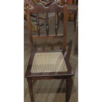 Cadeiras Em Madeira Com Palhinha #3595