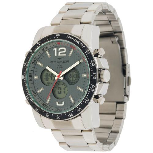 Relógio Masculino Backer 3576323m Cz Frankfurt Prata
