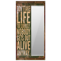 Espelho Dont Take Life Too Seriously Oldway - 160x80 Cm