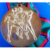Japão-100 Anos Imigação Grande Medalha Futebol-80 Mm,c Fita