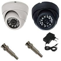 Camera Dome Ccd Infra Vermelho 24 Leds 20mts 700linhas 3,6mm
