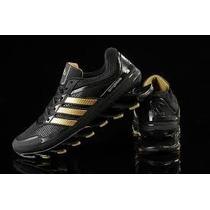 Tênis Adidas Springblade 100% Original Preto E Dourado