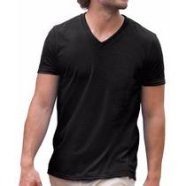 Kit 10 Camiseta Lisa 100% Algodão Gola V Atacado Varias Core
