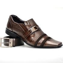 Calçados Social Masculino Stilo Italiano Em Couro Legitimo