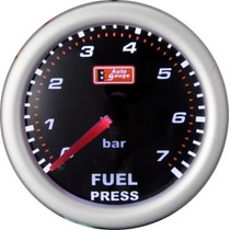 Auto Gauge Pressão Combustivel 7 Bar 52mm Smoke Series
