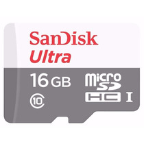 Cartão Micro Sdhc 16gb Ultra Sd Sandisk Classe 10 48mb/s