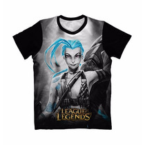 Camiseta Leagues Of Legends Jinx - Camisa Game Anime