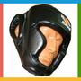 Protetor De Cabeça C/ Velcro Capacete Muay Thai Boxe Fechado