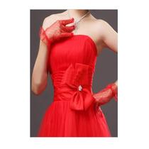 Luva Vermelha Para Noiva, Debutante, Princesa , Fantasia.