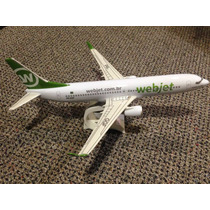 Miniatura Maquete Avião Comercial Webjet Boeing 737 800