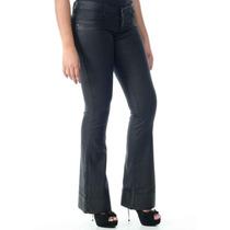 Calça Jeans Resinado Sawary Flare Com Elastano Frete Gratis!
