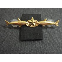Distintivo Metal Dourado Mergulhador De Combate