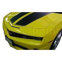 Kit Faixa Adesivo Preto Capo E Traseira Chevrolet Camaro