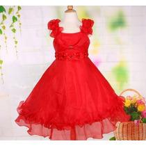 Vestido Infantil Festa/princesa/florista Fita E Cristais