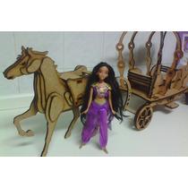 Carruagem Barbie Barbi Princesa Em Mdf