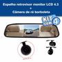 Kit Com 4 Espelhos Retrovisor Monitor Lcd 4.3+ Câmeras De Ré