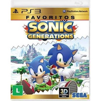 Sonic Generation Ps3 - Sedex A Partir De R$ 7,00