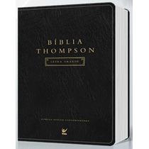 Biblia Thompson Aec Letra Grande - Cp Luxo Preta C/indice